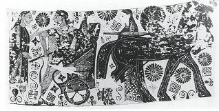 Fig.14: Melian amphora depicting Heracles and his bride. Source: John Boardman 1998.