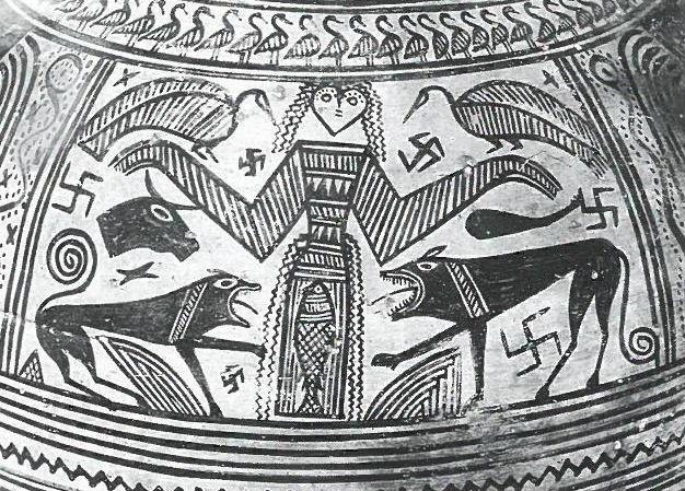 Fig.16: Boeotian Late Geometric depiction of Artemis. Source: John Boardman 1998