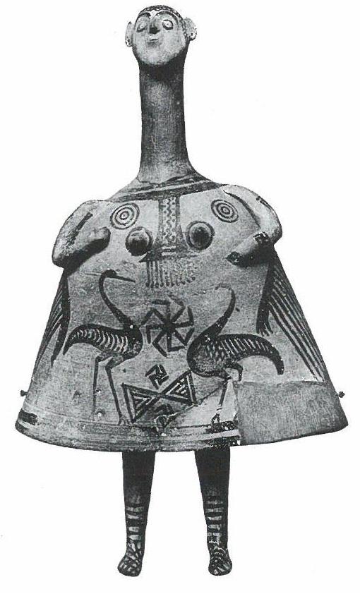 Fig.19: Late Geometric Boeotian Bell-Idol. Source: John Boardman 1998.