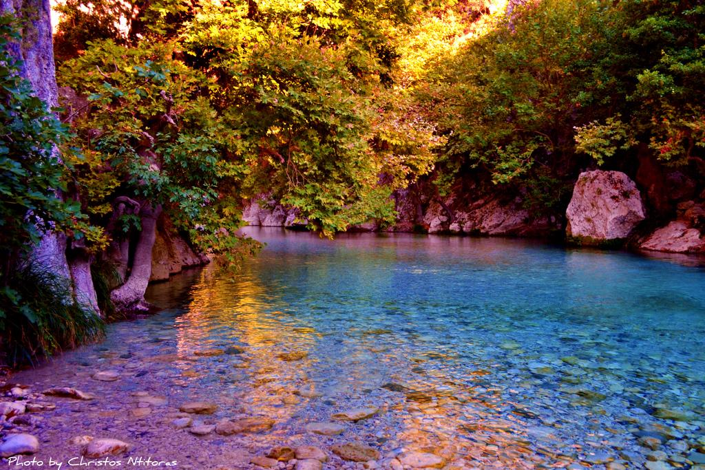 Walking on a dream feeling in Acheron River by Christos Ntitoras