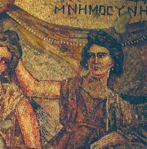 Mnemosyne | Greco-Roman mosaic from Antioch C2nd A.D. | Hatay Archeology Museum, Turkey