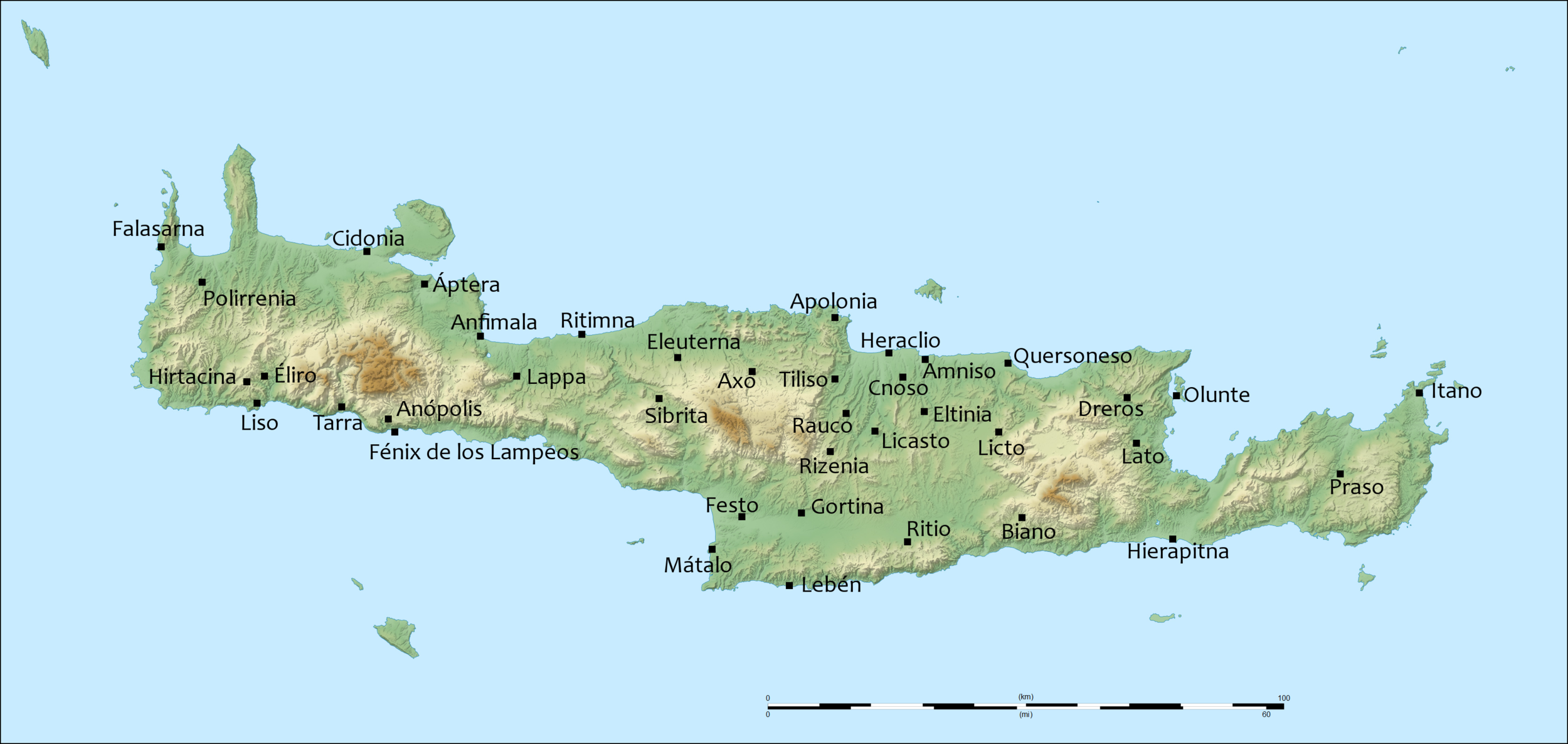Ancient Crete map