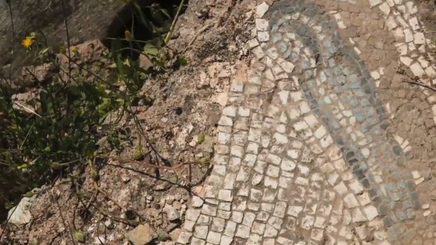 Looters have already stolen mosaics, but some examples still remain