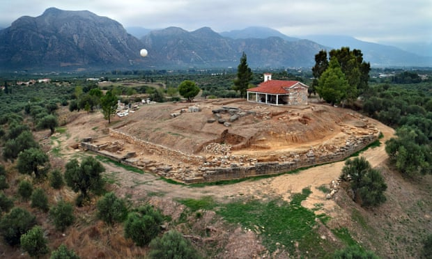 The excavation site near Sparta with ruins of a palace from the Mycenaean period, bearing important inscriptions in archaic Greek. Photograph: Gesafidis Xenikakis/AFP/Getty Images