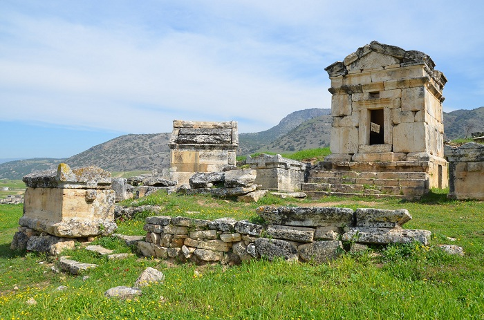 The northern necropolis of Hierapolis in  Phrygia  with many different types of tombs.