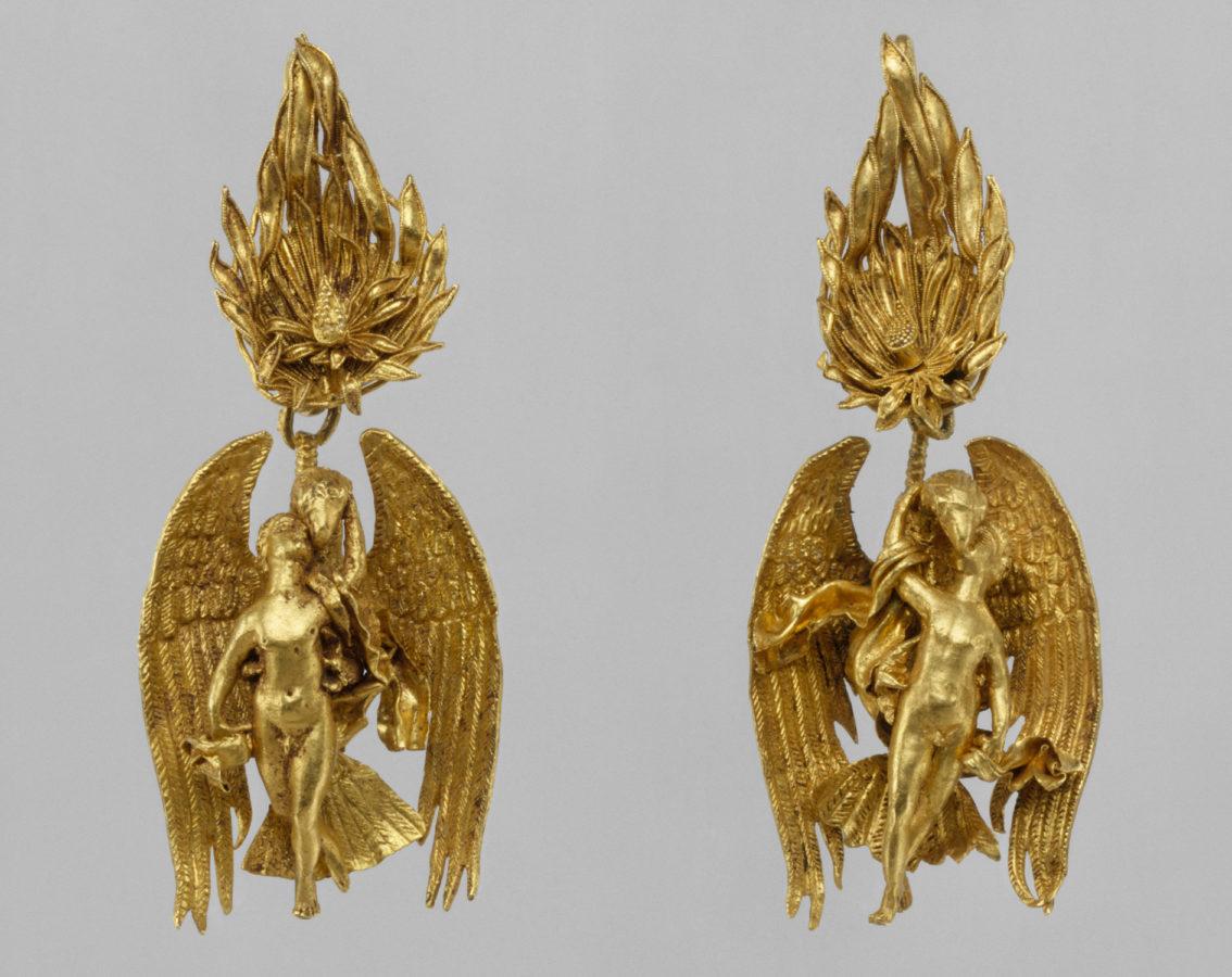 Ganymede Jewelry (earrings), Hellenistic, ca. 330-300 BC, Metropolitan Museum of Art (Heilbrunn Timeline of Art History): New York City, 2019