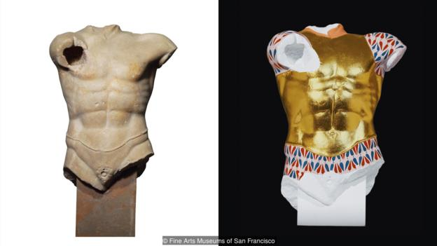 Some statues were ornamented with garments, such as this cuirasse (Credit: Fine Arts Museums of San Francisco)