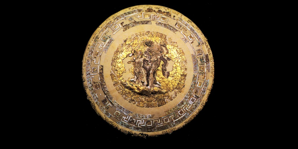 The elaborate ceremonial shield of Philip II of Macedon, father of Alexander the Great.