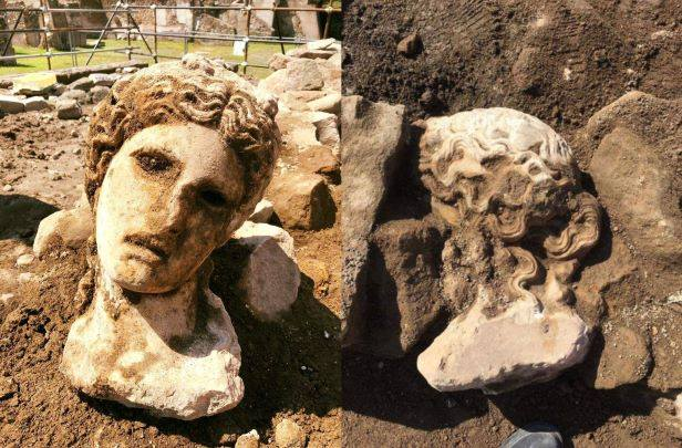 The head of Dionysus was found near the Roman Forum. Photos: Archeological Park of the Colosseum.