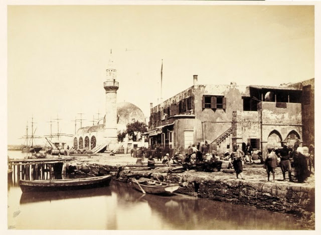 Chania port, Greece, 1868