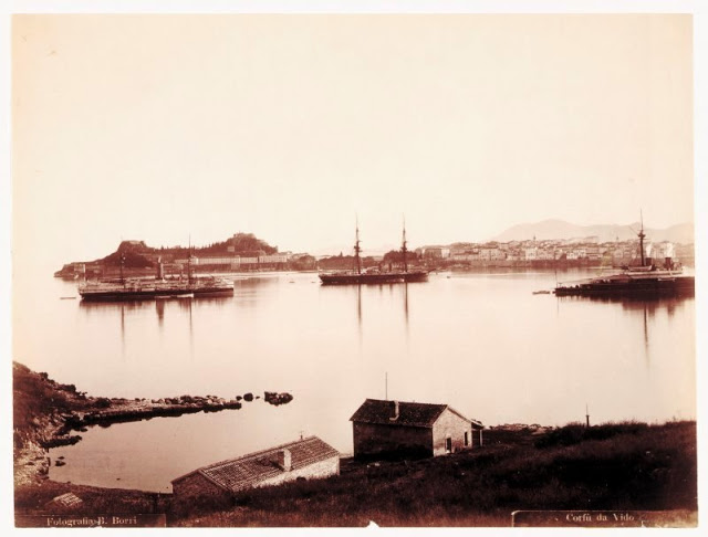 Corfu port, Greece, circa 1880
