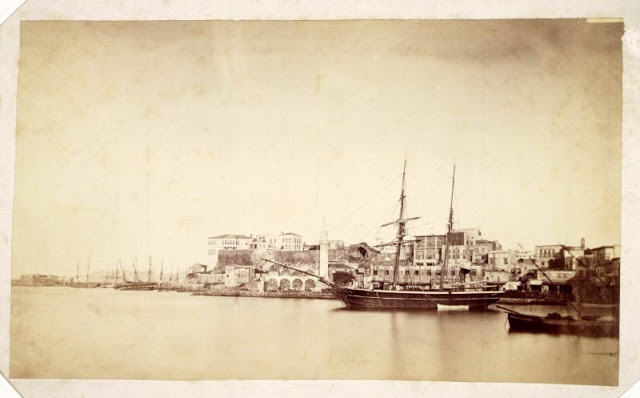 Crete Port, Chania, Greece, 1870