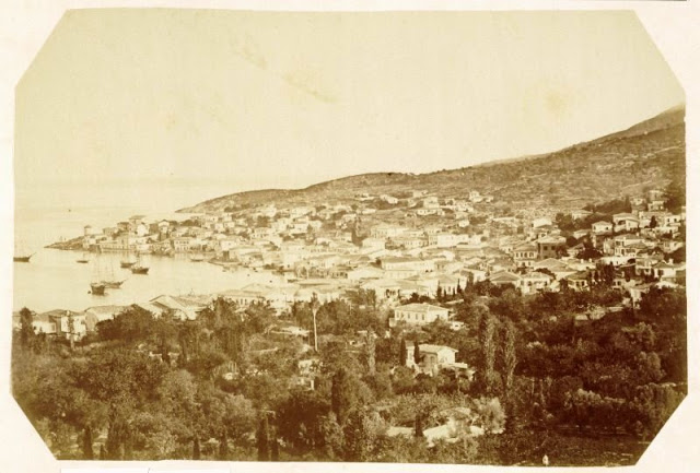 Samos port, Greece, 1865