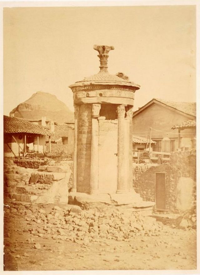 The Choragic Monument of Lysicrates, Athens, Greece, 1860