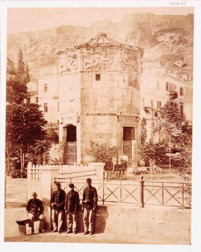 The Tower of the Winds, Athens, Greece, 1875