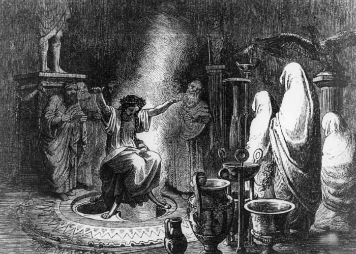 Archiv Gerstenberg/ullstein bild via Getty Images Ancient Greece Pythia, priestess at the Oracle of Delphi.