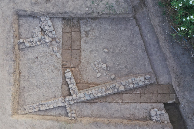 The foundations of the southern wing of the Hellenistic Stoa  [Credit: Hellenic Ministry of Culture]