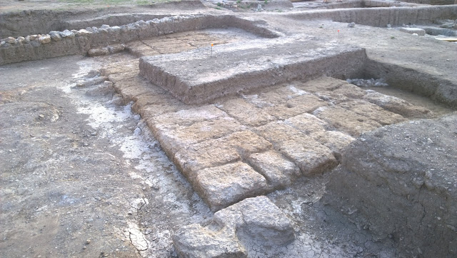The monumental foundation that can most probably be identified with the altar of the sanctuary  [Credit: Hellenic Ministry of Culture]
