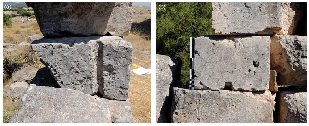 Block from Isthmia temple. Image: Alessandro Pierattini