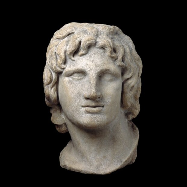Youthful image of the conqueror king    Hellenistic Greek, 2nd-1st century BC, Said to be from Alexandria, Egypt.