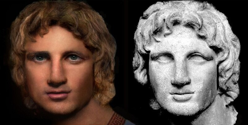 The Face of Alexander the Great (Photoshop Reconstruction)