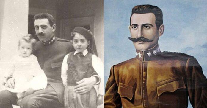 Pavlos Melas with his children (left)