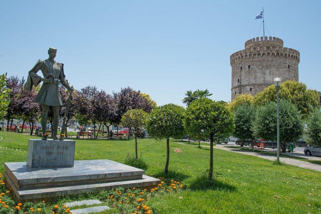 Pavlos Melas' statue in Thessaloniki