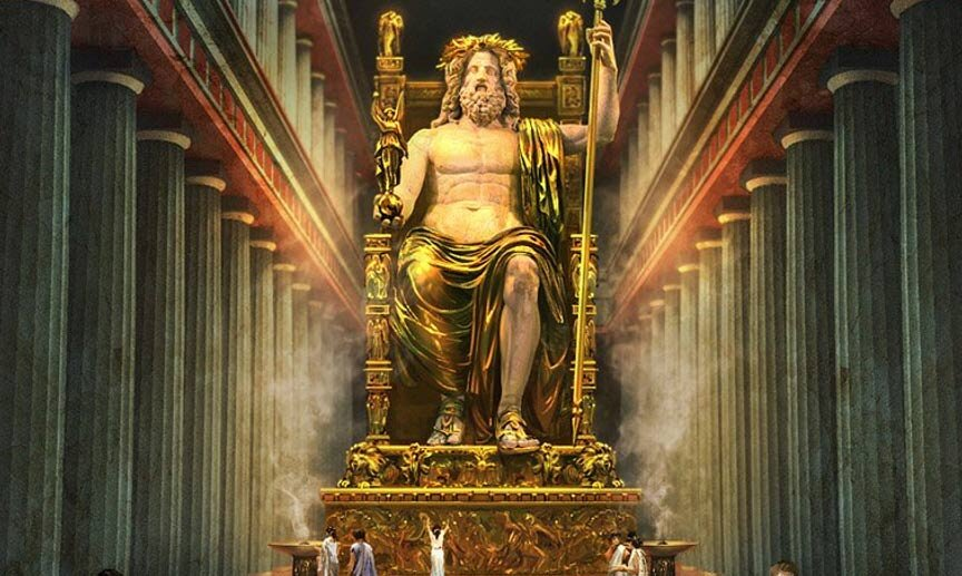 chryselephantine-statue-of-Zeus What Happened to the Statue of Zeus at Olympia.jpg