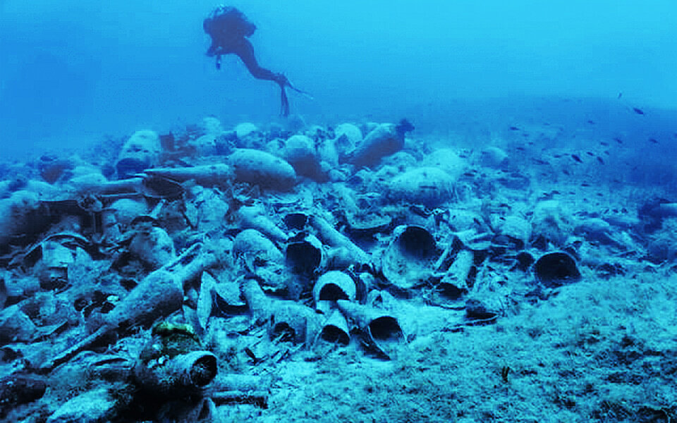 An ancient shipwreck at the Greek island of Delos. File photo