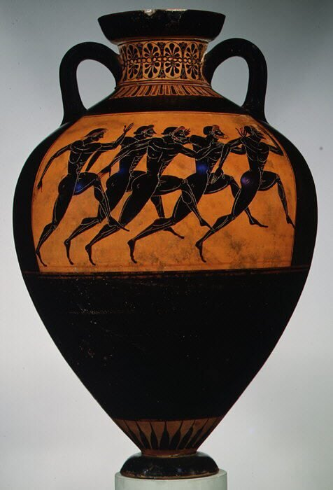 The prizes for the winners were big, beautiful Athenian pots were filled with olive oil. (Image: By Creator:Euphiletos Painter/Public domain)