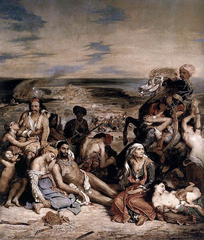 Le Massacre de Chios, held at the Louvre, Paris
