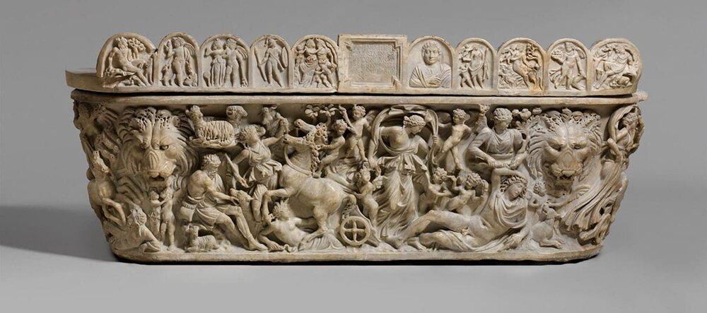 Marble sarcophagus with the myth of Selene and Endymion, via TheMet