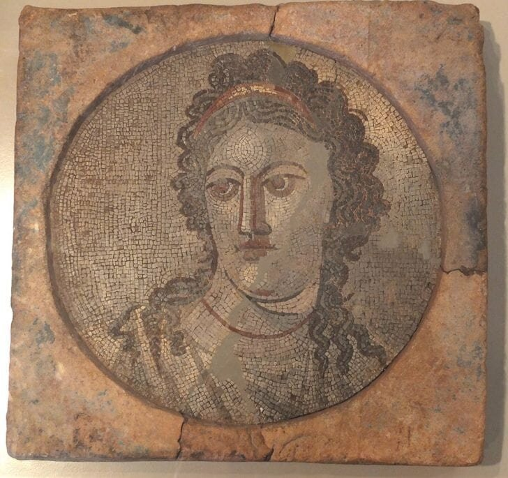 Mosaic of Mnemosyne, in the National Archaeological Museum of Tarragona