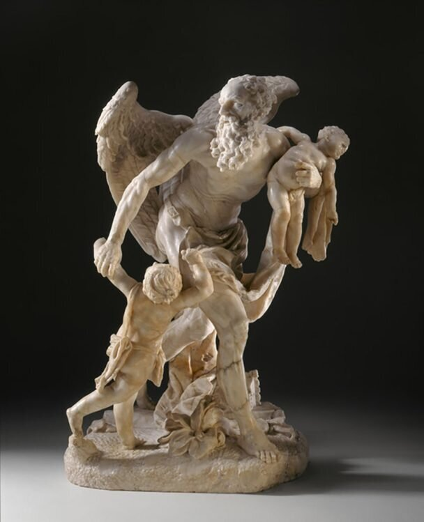 Cronus Carrying off Two Infants, circa 1742, via LACMA