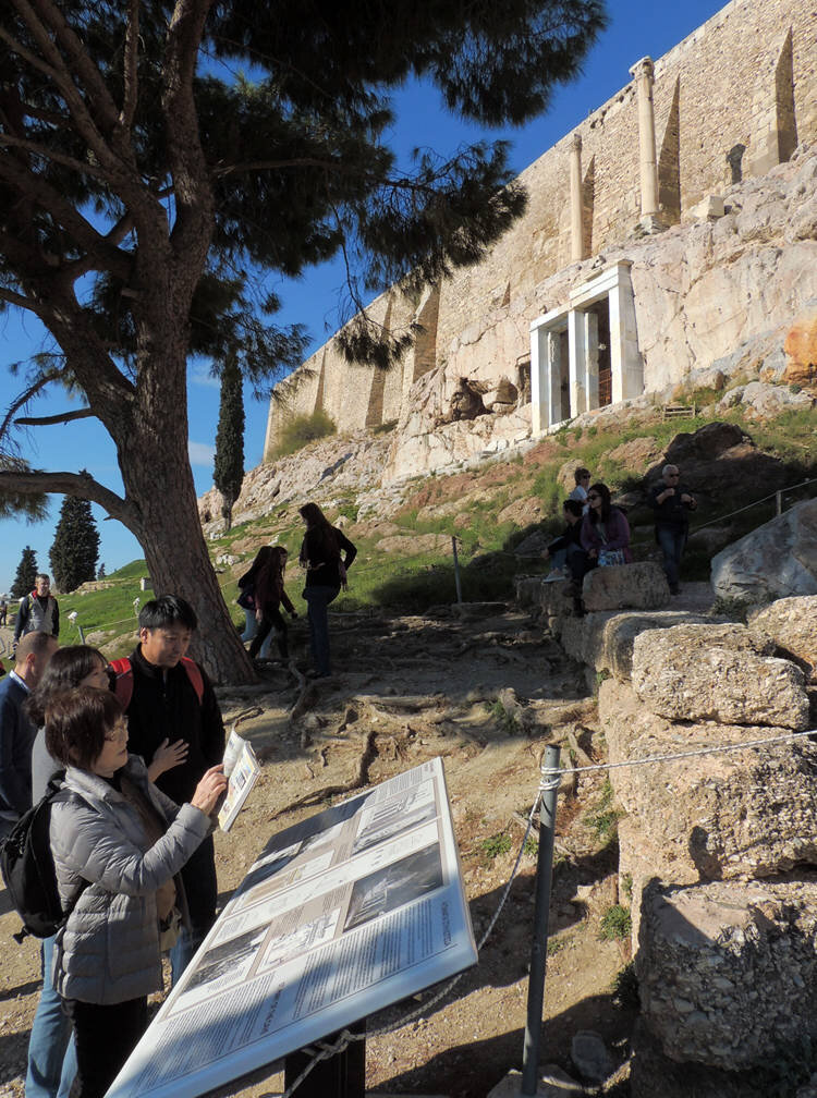 Two signs with information material about Thrasyllio and Panagia Spiliotissa have been placed in an appropriate place under the monument by the Ephorate of Antiquities of Athens