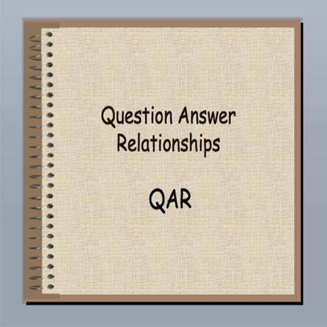 Question-Answer relationship (  QAR  ) is a   strategy   to be used after students have read.  It  teaches students how to decipher what types of questions they are being asked and where to find the answers to them.