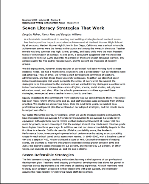 7 Literacy Strategies that Work
