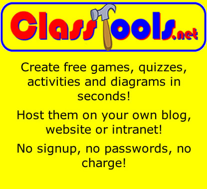 Class Tools   Create free educational games and tools in flash practical pedagogies.