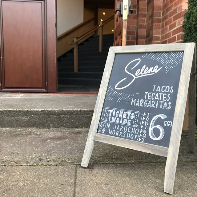 Adding chalkboard art to our set of skills✔️🙌it was all hands on deck for last month's screening of SELENA at the @albertaabbeypdx, and we loved the opportunity to test out unique programming for the local community. Now time for this month's movie, COMING TO AMERICA, happening tomorrow @ 6p