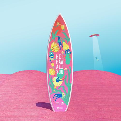 Adiidas Surfboard