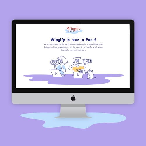 Wingify Pune Landing Page