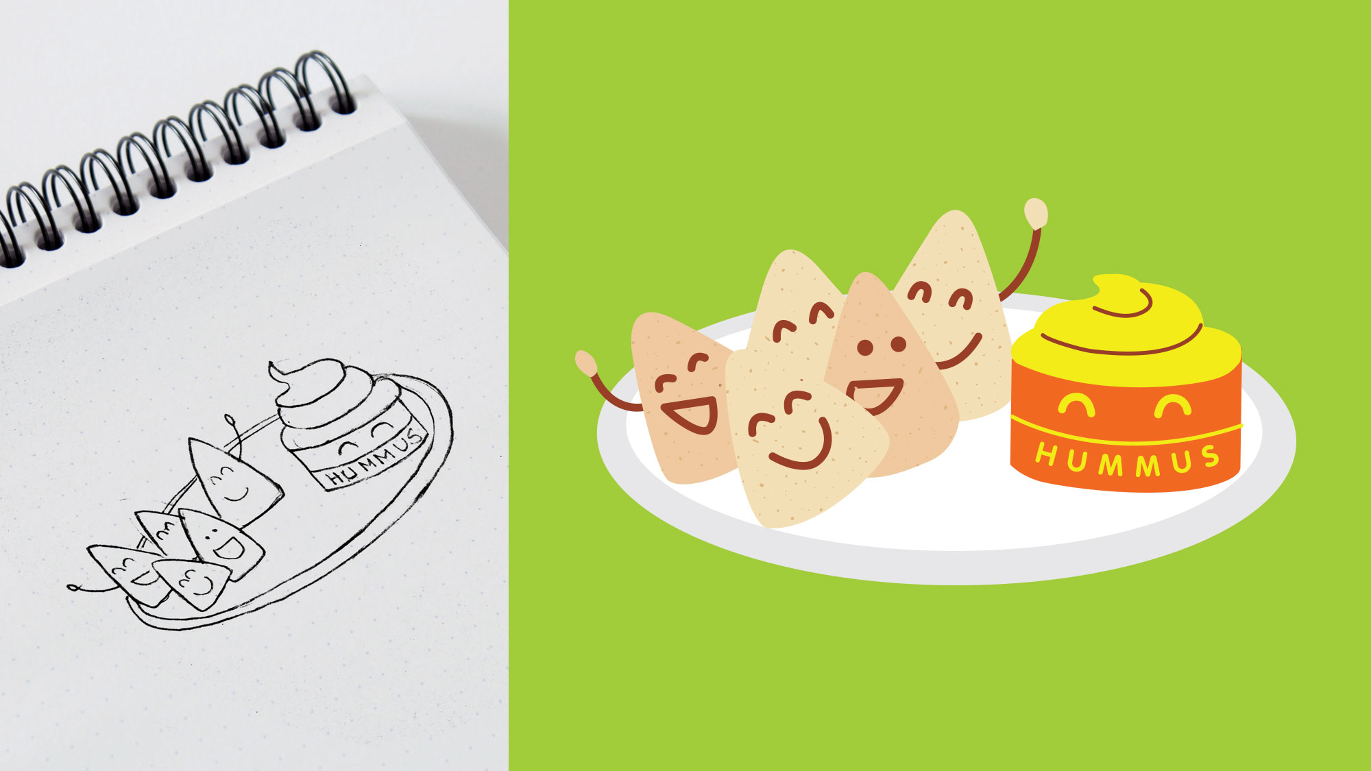 Food Character 5  : Sketch to Digital.
