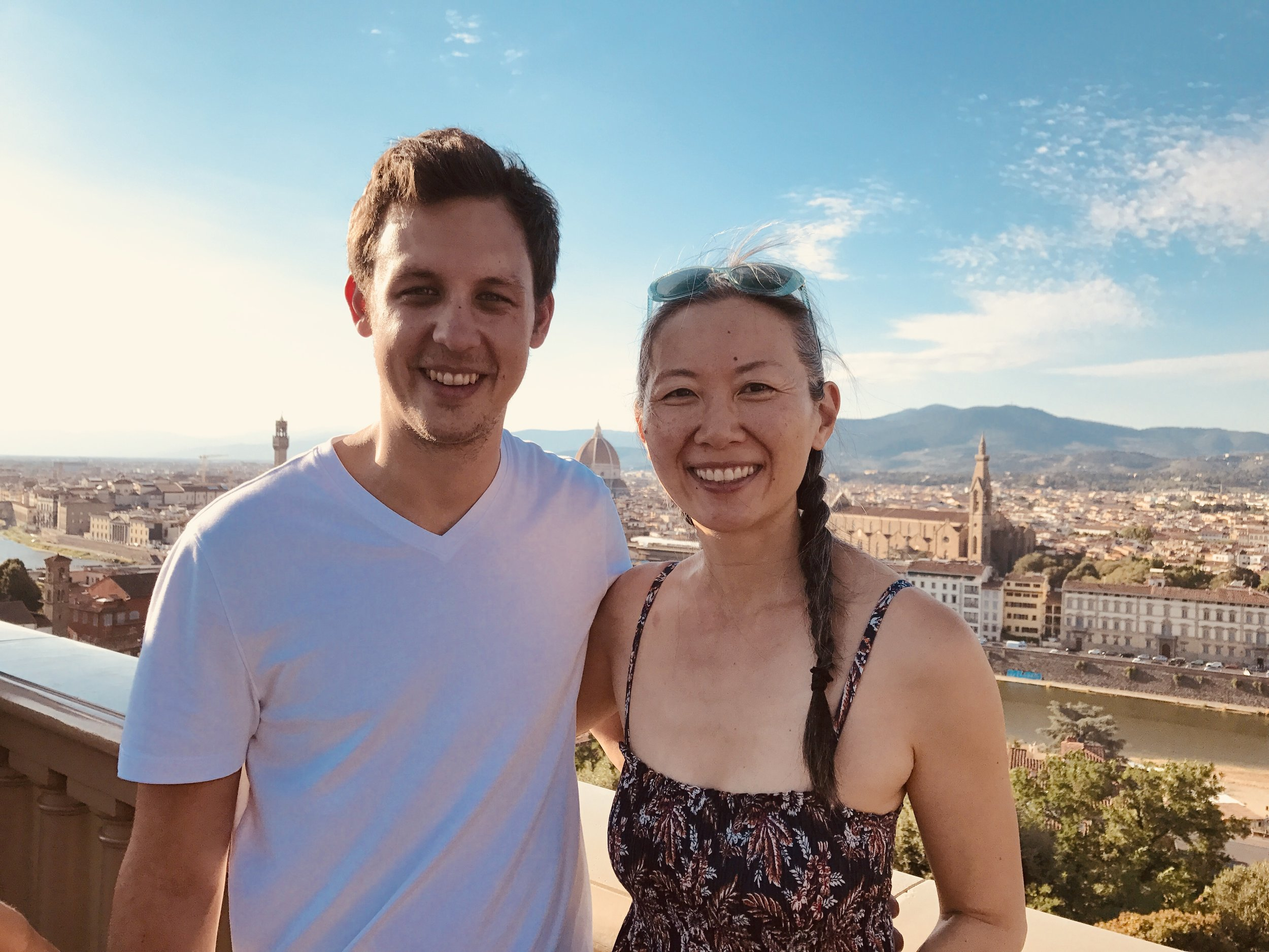 Belinda and Luke in Florence, Italy.
