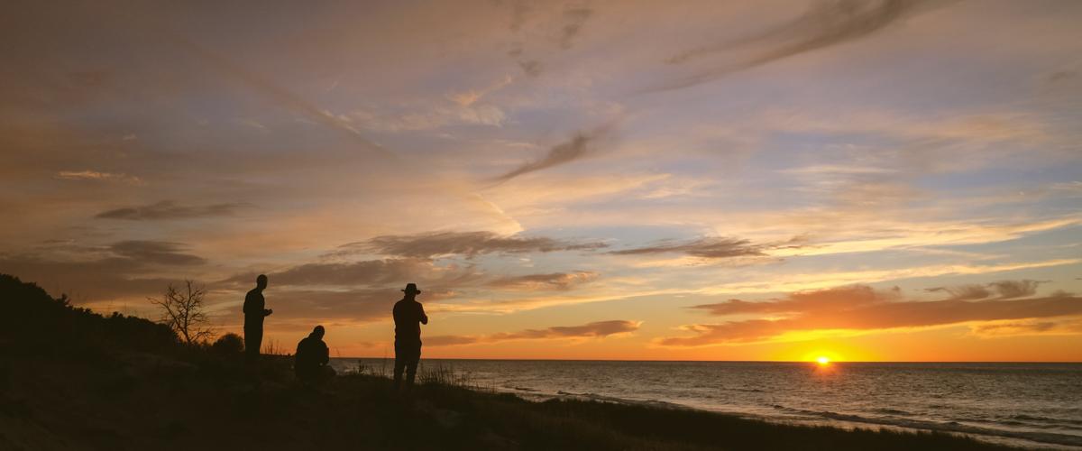 Sunset Over Lake Michigan - Manistee, MI (2015)
