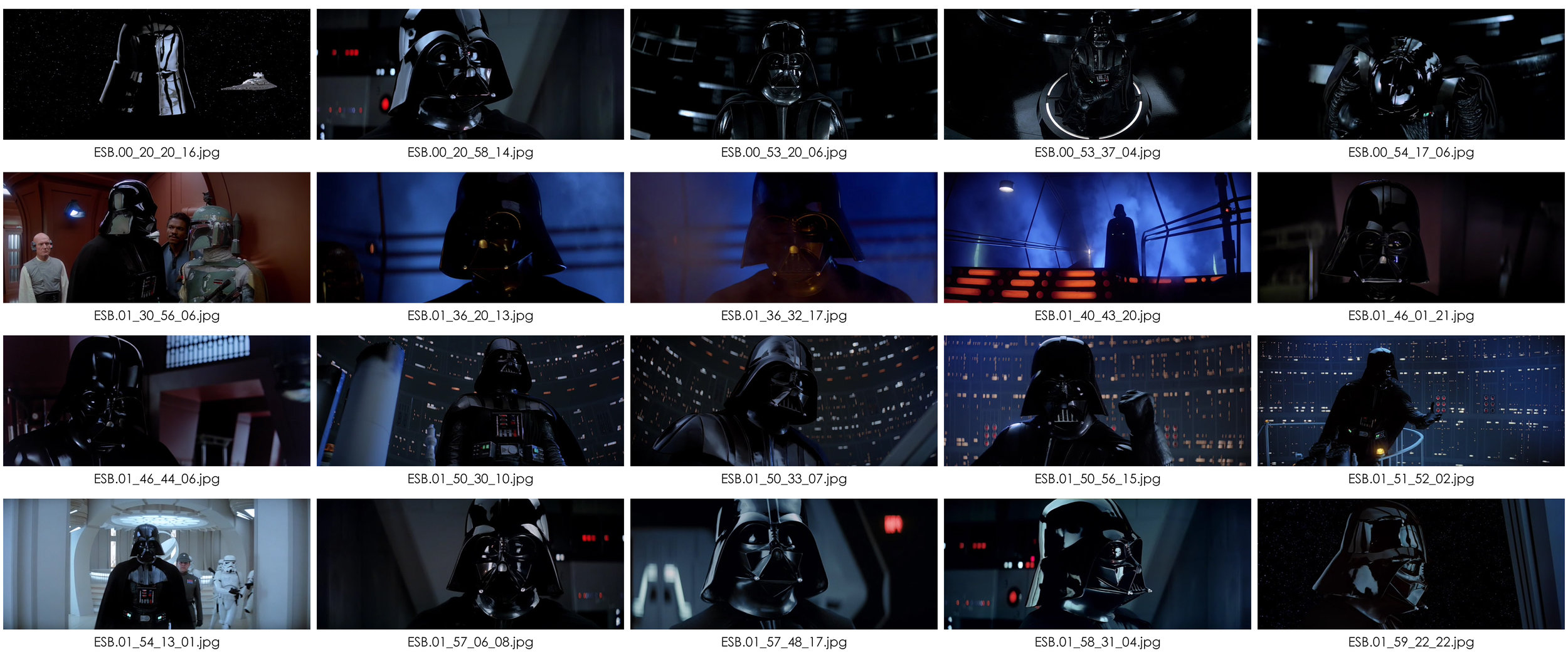 Darth Vader showcases many different lighting appraches.