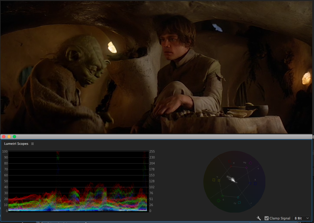 The interiors on Dagobah are on the warm side, suggesting comfort and safety.