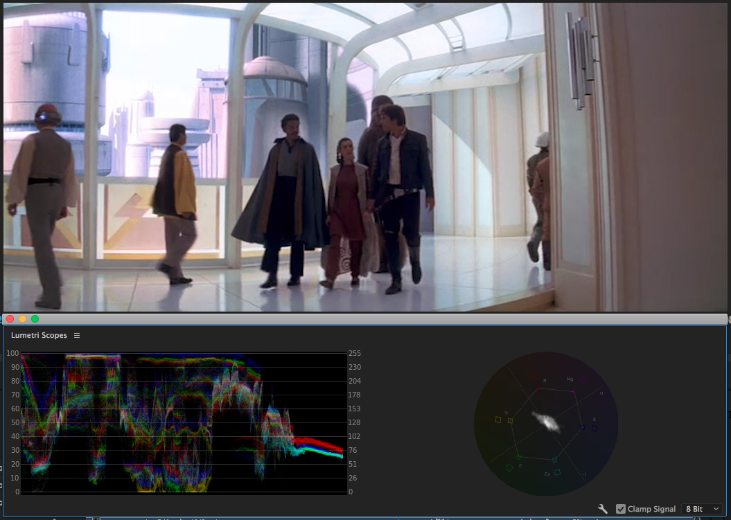 Cloud City sequences bring us back to the beginning look, which puts us on edge.