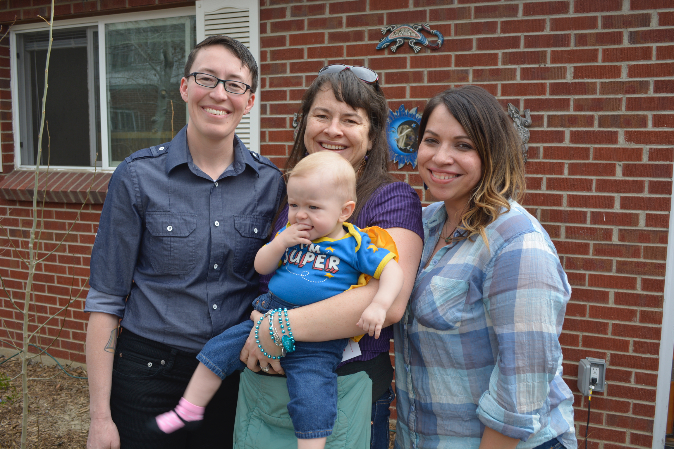 COLOR current and former EDs Jacinta Montoya Price and Cristina Aguilar (with baby Cora, and Indra)