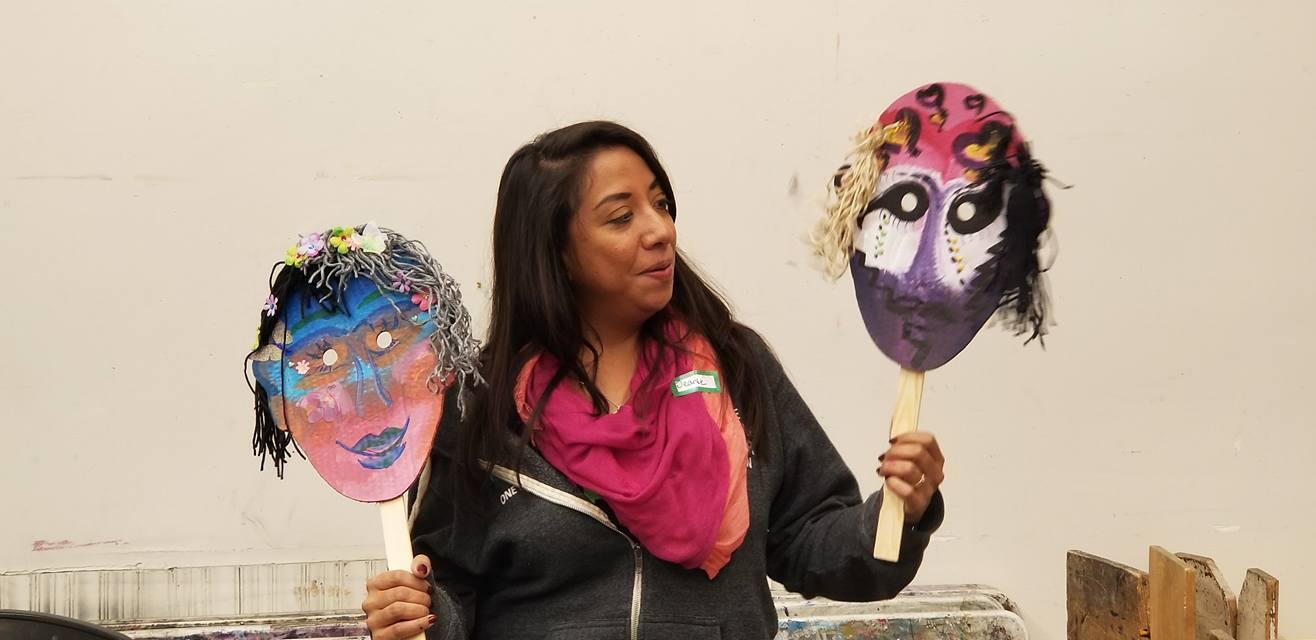 Perceptions and Stigmatization Mask Making Workshop - April 17, 5-7pm at New Legacy Charter School. This workshop is part of the Message to Our Mothers | Mensaje a Nuestras Madres (M2M) project exploring substance use in families through storytelling and art. This workshop is being taught by Sandy Caes. Click here for tickets.
