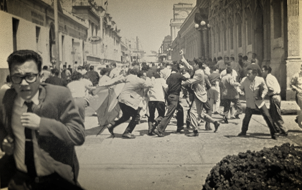 Students protest in Guatemala City ca. 1962 (Credit: AP)